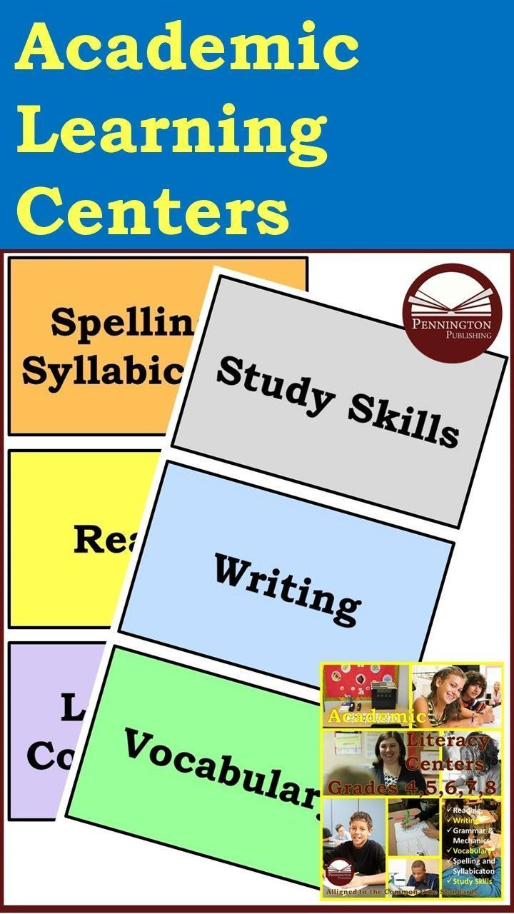 These Six Academic Literacy Centers Have Been Designed To Minimize Or Eliminate Preparation Teaching Reading Strategies Teaching Spelling Reading Intervention [ 1280 x 720 Pixel ]