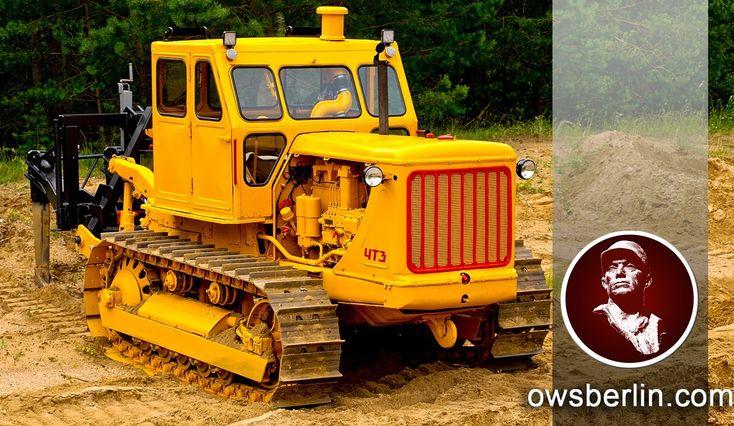 Гусеничный трактор ЧТЗ Т-100. Kettentraktor T-100. Wischer, Germany.