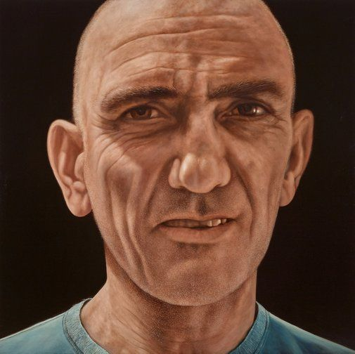 Jason Benjamin's portrait of Paul Kelly titled I sat by the river, I waited by the road.