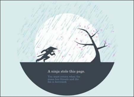 Błąd 404, page not found, kreatywne strony błędu 404