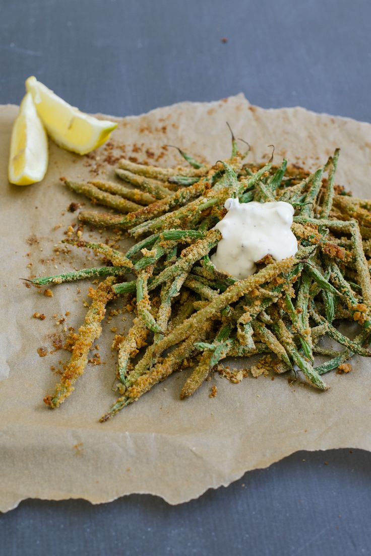 Serve crispy green bean fries with garlic aioli and you've got a killer side dish.