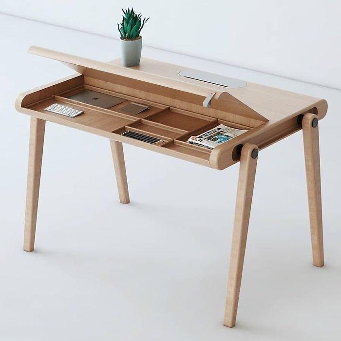 Woody Desk By Paque Dudley Mawalla Desk Design Desk Furniture Diy Furniture Table