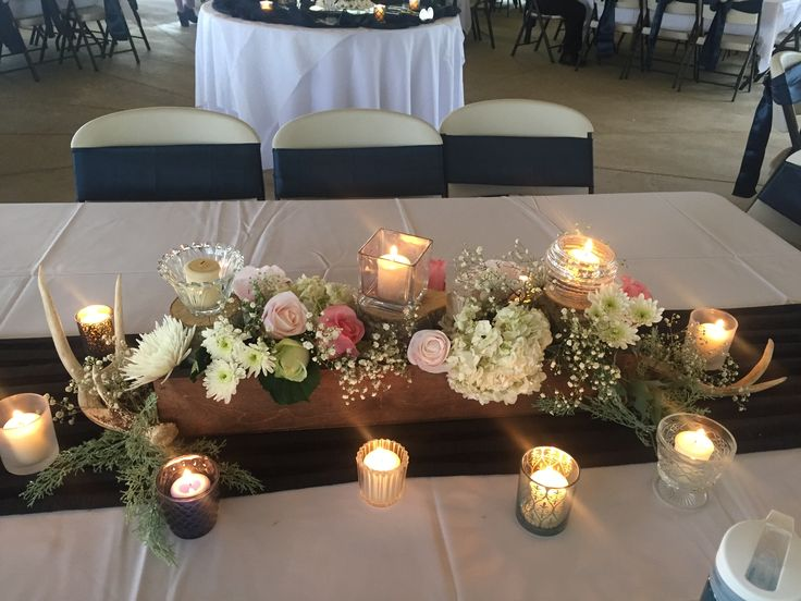 84 Ways To Use Antlers For Your Rustic Wedding Weddings And Antler Centerpiece