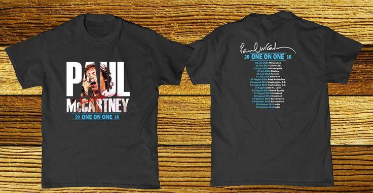 Paul Mccartney One On One Tour 2016 T-Shirt Size M L XL #Handmade #GraphicTee