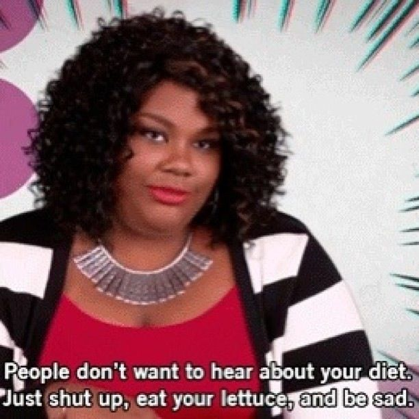 Lol. Or when someone tries to tell you all about the diet you introduced them to.