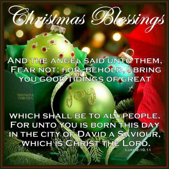 Merry Christmas. God Bless.