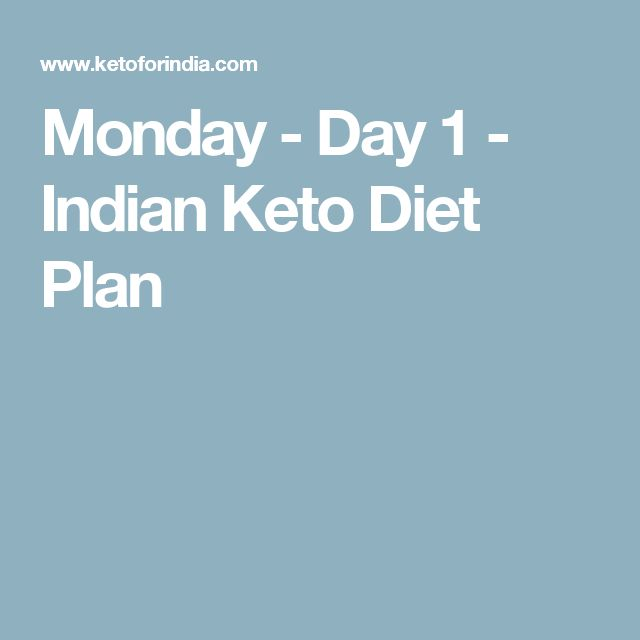 Monday Day 1 Indian Keto Diet Plan Keto For India Keto Diet
