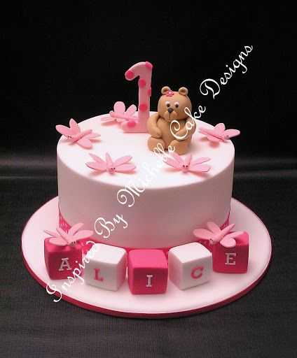 1st birthday girl ideas cake | ... 1st birthday cake. Inspired By Michelle Cake Designs www