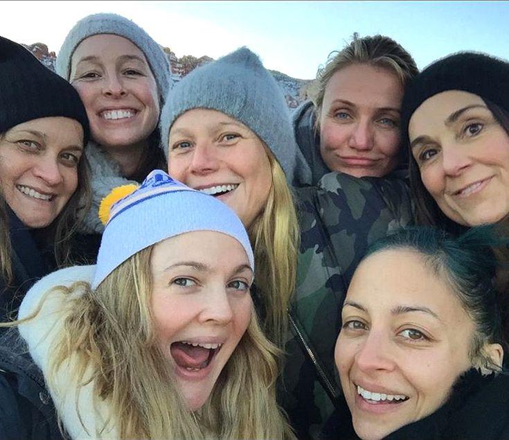 Drew Barrymore Selfies with Cameron Diaz, Nicole Richie