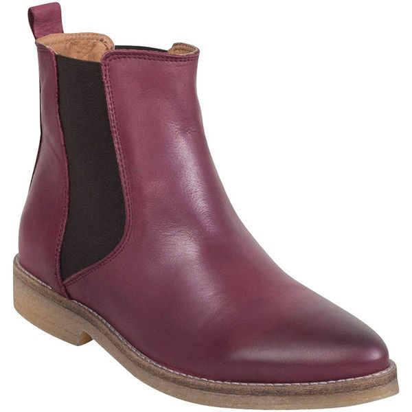 Miz Mooz Lucia Women's Chelsea Boot F Boot ($75) ❤ liked on Polyvore featuring shoes, boots, bordeaux, wide width boots, bordeaux shoes, miz mooz footwear, chelsea boots and wide fit shoes