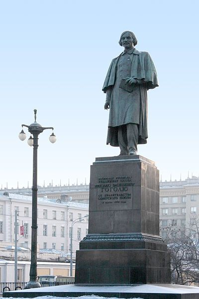 Nikolai Gogol's monument in Moscow, Russia