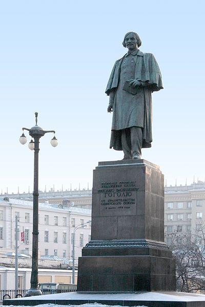 Nikolai Gogol's monument in Moscow, Russia