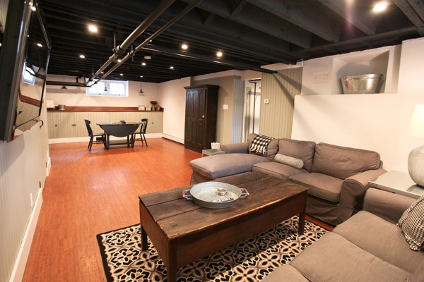 Exposed Ceiling Finished Basements Pinterest