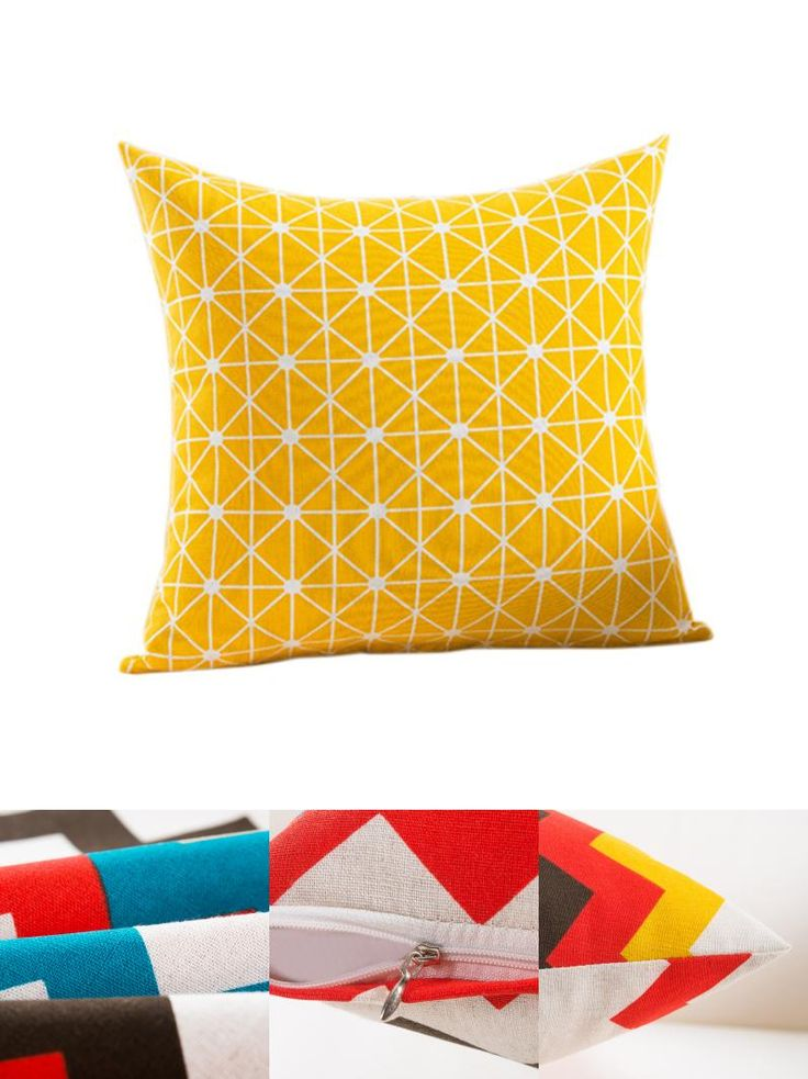 [Visit to Buy] RUBIHOME New Design Geometry Yellow Decorative Cushion Cover Throw Pillowcase Polyester Fabric Home Decor Sofa Seat #Advertisement