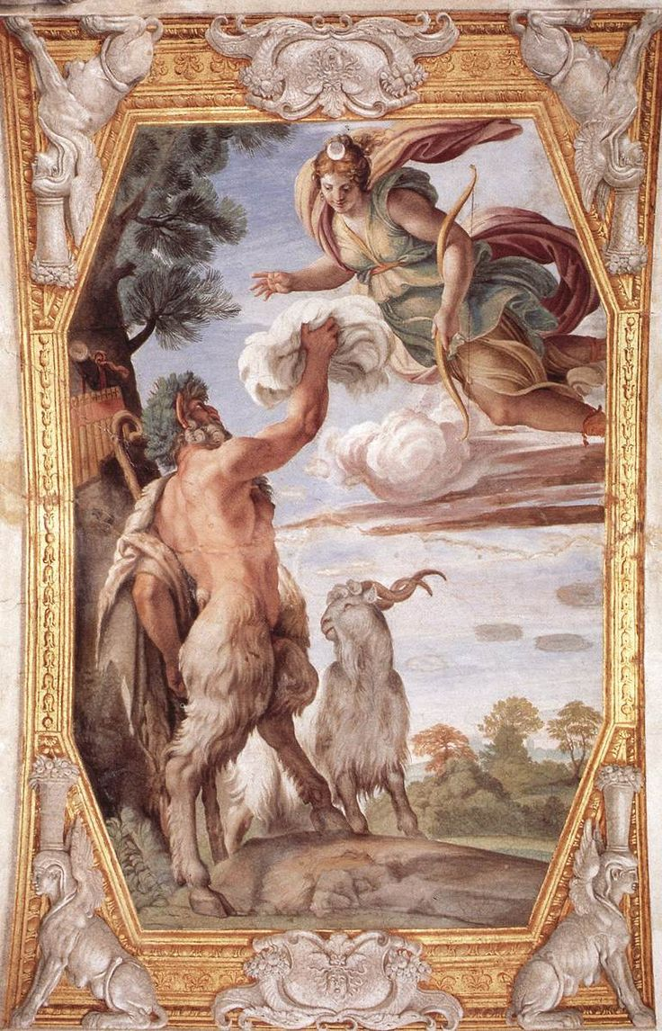 Homage to Diana, by Annibale Carracci, Homage to Diana, 1597-1602 Technique: fresco Gallery: Palazzo Farnese