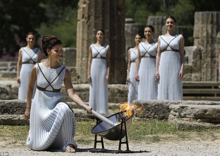 April 22 2016 - The countdown to Rio 2016 officially begins with the lighting of the Olympic flame at the site of the ancient Games