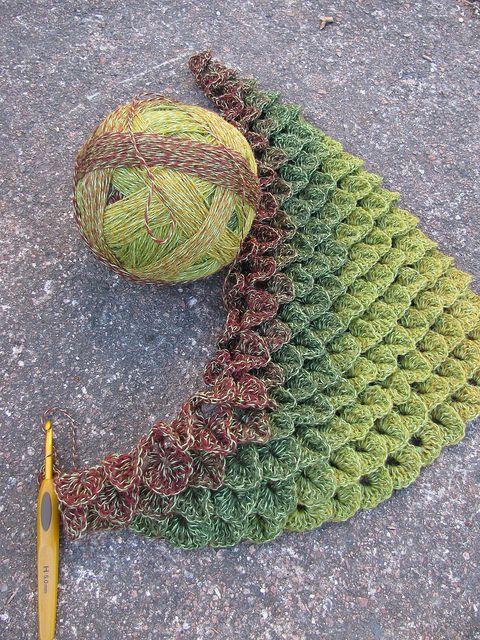 crocodile stitch crochet - tutorial here: http://moiracrochets.hubpages.com/hub/Crocodile-Crochet-Stitch-Pattern