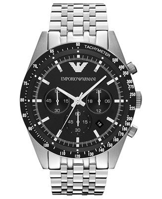 Emporio Armani Watch, Men's Chronograph Stainless Steel Bracelet 46mm AR5988 - Watches - Jewelry & Watches - Macy's