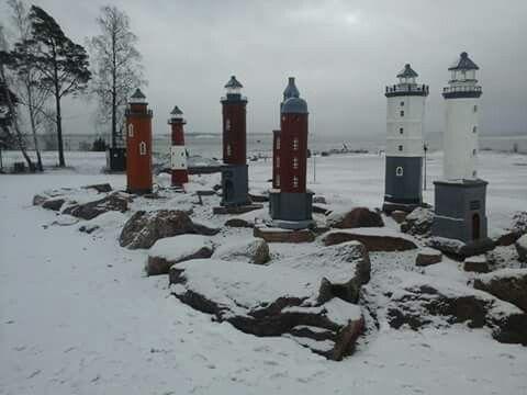 Miniature lighthouses, Katarina park