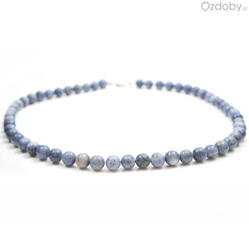 Przepiękny naszyjnik wykonany z naturalnego niebieskiego korala i zapięciem najwyższej jakości srebra.