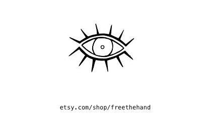 Ojo tatuaje temporal juego de 2 por freethehand en Etsy                                                                                                                                                                                 Más