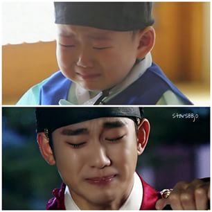 Instagram photo by stars88jo - same crying expression  #KimSooHyun #김수현 #ksh #김수현 #songminguk #SupermanReturns  pic cr web