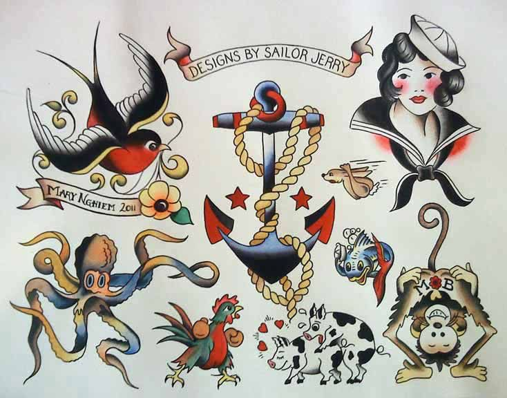 This book is absolutely beautiful I have used a friends copy to get ideas for my tattoos and I finally needed to buy my own copy Sailor Jerry wasis the