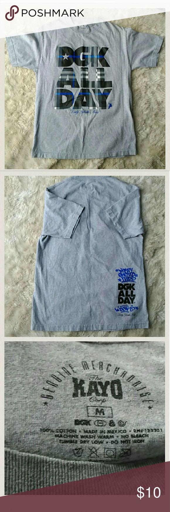DGK Grey Shirt *Mens* 100% Cotton DGK Shirts Tees - Short Sleeve