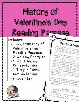 This Reading Passage Is A Great Passage To Teach Your Students About The  History Of Valentineu0027s Day And Have Them Using The Text For Writing And ...