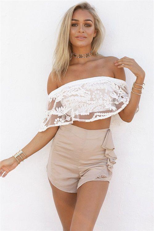 Buy Silky Frill Shorts Online - Bottoms - Women's Clothing & Fashion - SABO SKIRT