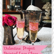 Hometalk :: I picked up some cheap Champagne Flutes from Goodwill, and added this…
