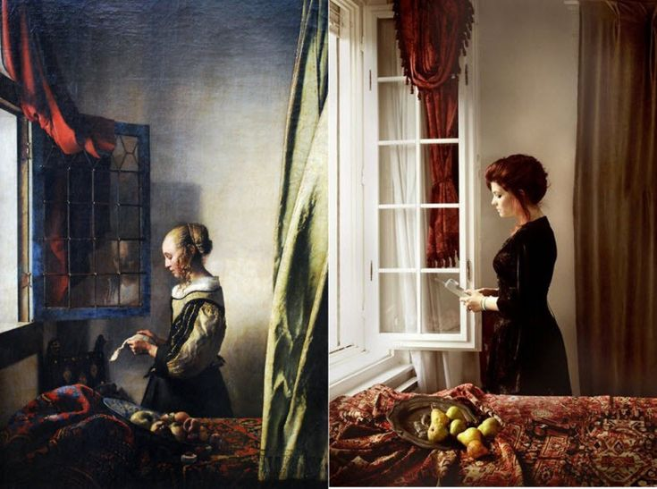 """Girl reading a letter by an open window"" by Vermeer"