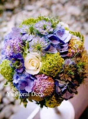 青いブーケ @シェラトン都ホテル  ys floral deco