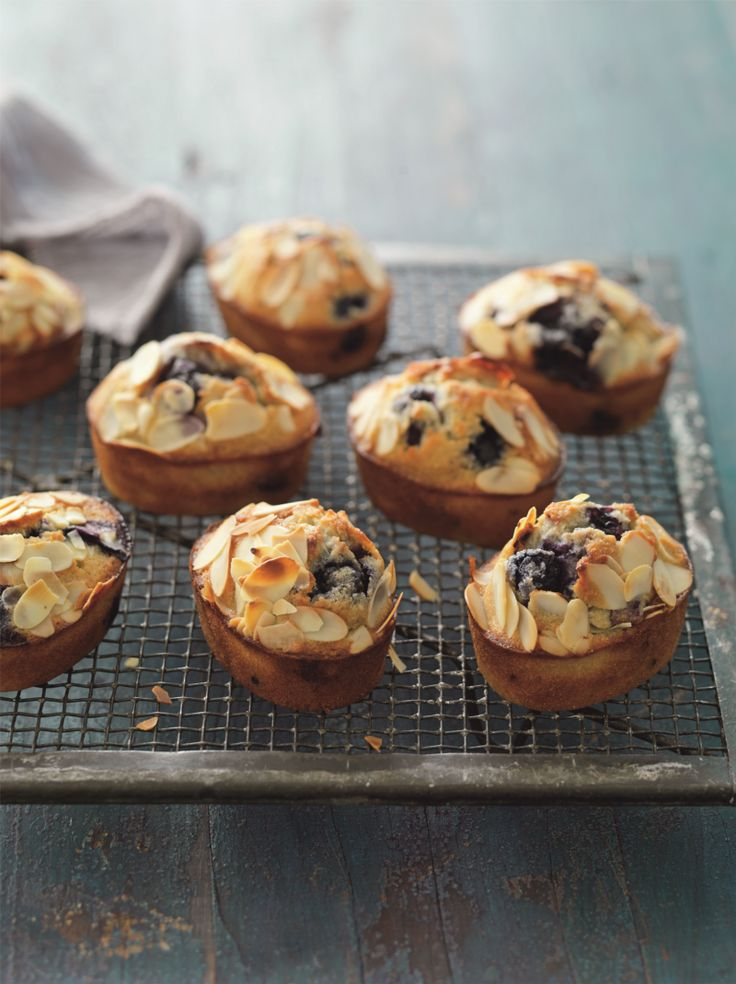 Blueberry & Almond Friands - BakeClub