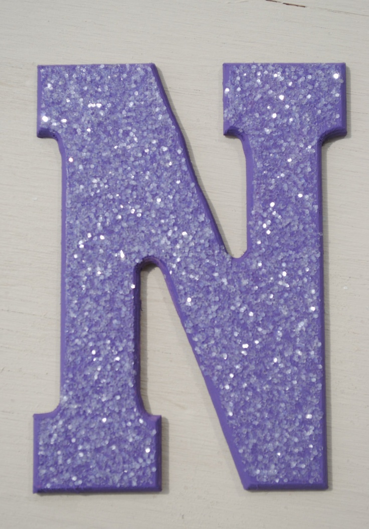 Purple Glitter Wall Letters For The Little Ones