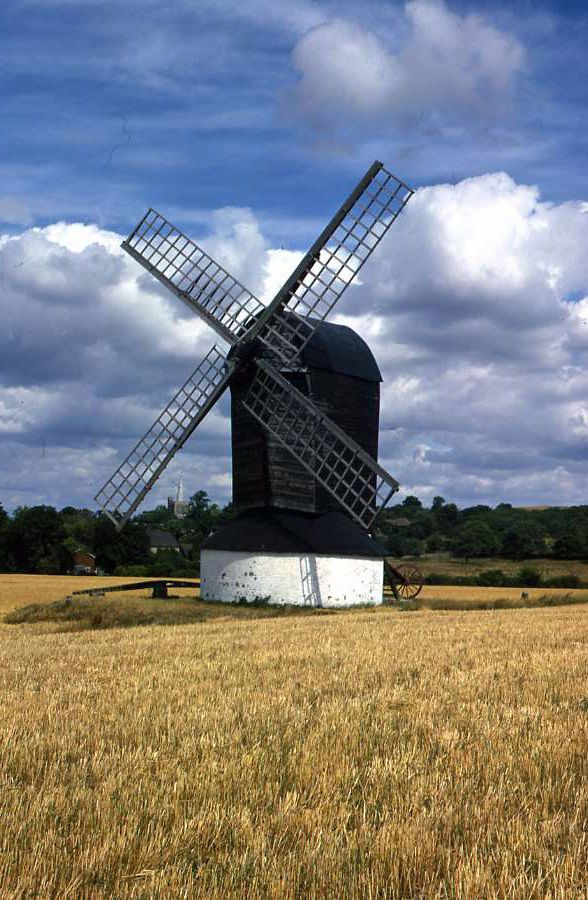 Original 35mm Slide Windmill Pitstone Aug 1975