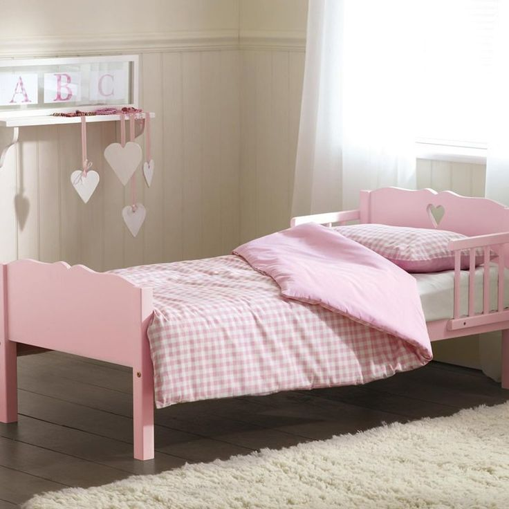 Saplings Heart Junior Bed Pink Description With A Shaped Cut Out In The