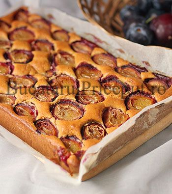 Prajitura rapida cu prune proaspete