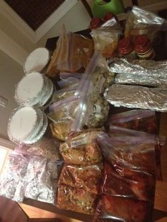 40 Freezer Meals in About 4 Hours- I am thinking this would work great to make and take to elderly people. Make sure the person you give it to is still able to use an oven safely.