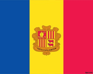 Andorra Flag PPT PowerPoint template background