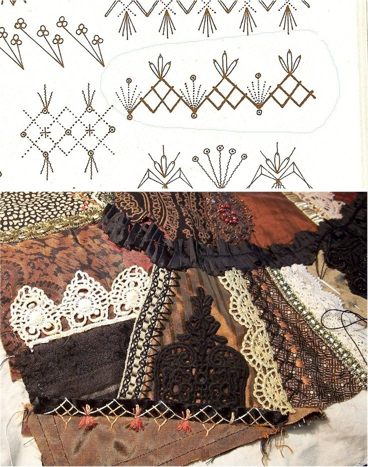 crazy quilt stitches | Crazy Quilt Stitches | sewing
