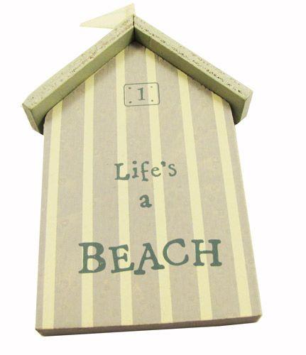 Life's a beach!  little beach hut plaque.