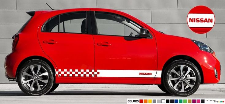 Sticker Decal stripe for Nissan micra 2008 2009 2011 2012 2013 2014 2015 2016 #ultimateprocy1
