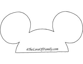 free printable minnie mouse bow template - how to make disney photobooth props with free printables