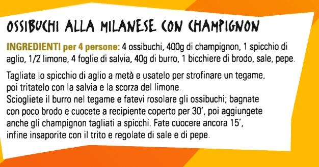 Ossibuchi alla milanese con Champignon