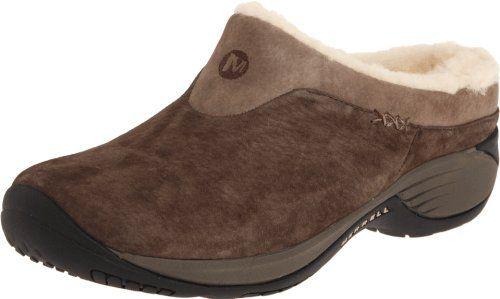 Merrell Women's Encore Ice Slip-On Shoe,Merrell Stone Leather,6 M US