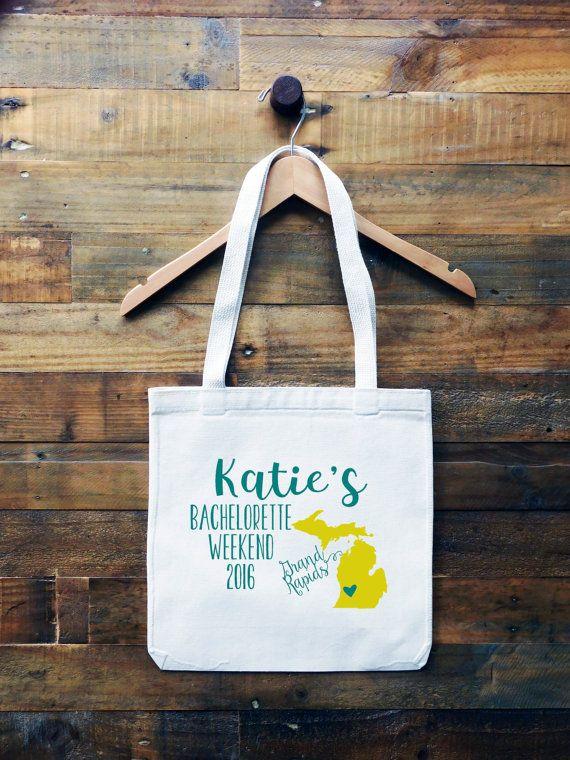 Michigan Personalized Tote Bag // Grand Rapids by FINCHandFOX