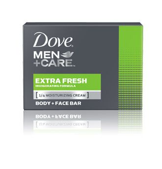 Dove Men and Care Body and Face Bar, Extra Fresh, 8 Count (4.25 Ounce each)