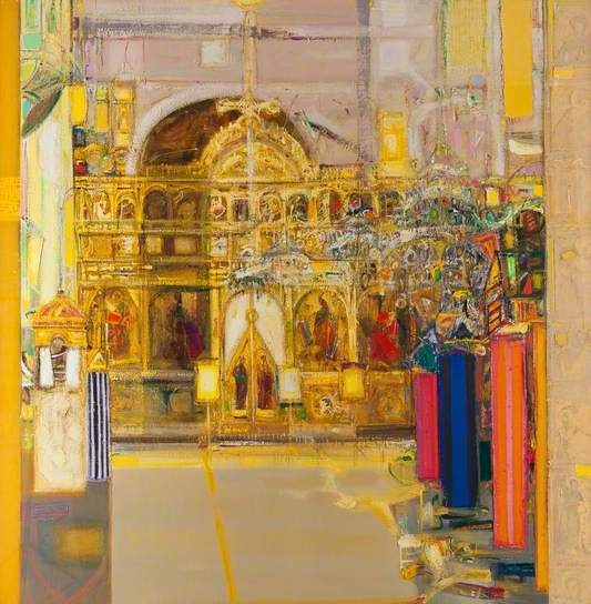 Iconostasis c.1973 by Sir Robin Philipson (1916-1992)
