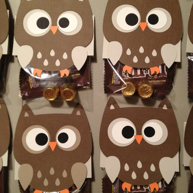 """Owl"" Miss You bags for Olivia's daycare"